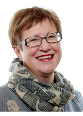 Valgplakat med borgmester Karin Søjberg Holst (S) i november 2013