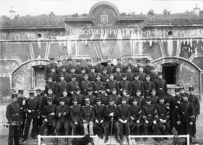 Foto af Bagsværdfortet fra 1902. Kilde Rigsarkivet.