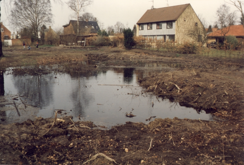 Oversvømmelse på Stenkrogen i april 1994.
