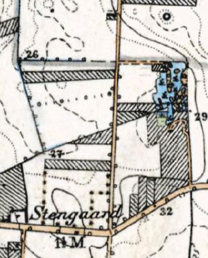 Stengårdens teglgrav og teglværk. Kort fra peioden 1842-1899.