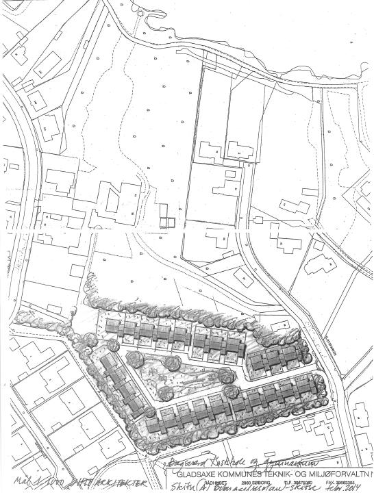 Bagsværd Kostskoles plan for nyt byggeri på grunden nær Bagsværd Sø