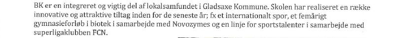 Oplysningen om Bagsværd Kostskolen samarbejde med FC Nordsjælland. Den sandlige årsag til Økonomiudvalgets afslag.