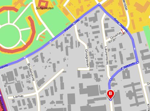 Krak nye rute til sydlige del af Laurentsvej.