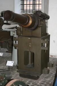 120 mm hurtigskydende haubitzer, som blev anvendt på Bagsværdfortet